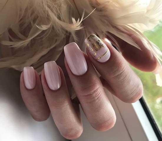 Розовый с декором фольга