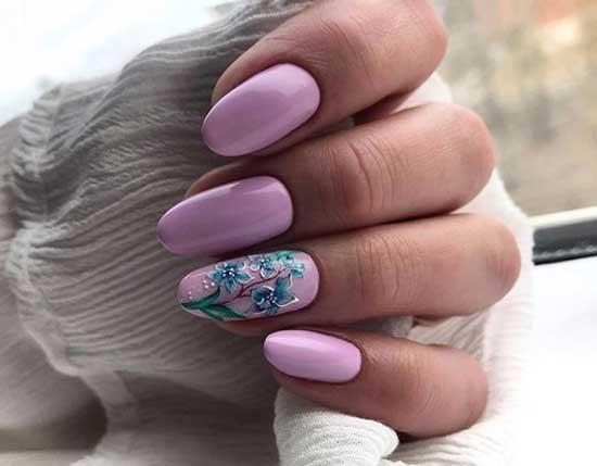 Красивый маникюр в розовых тонах