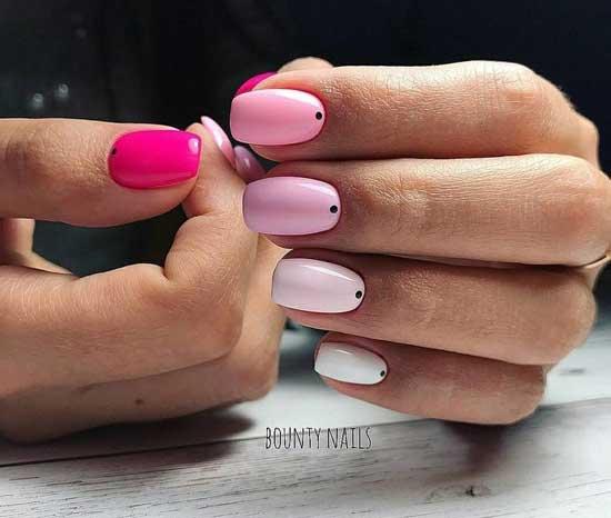 Нежно-розовый маникюр в стиле минимализм