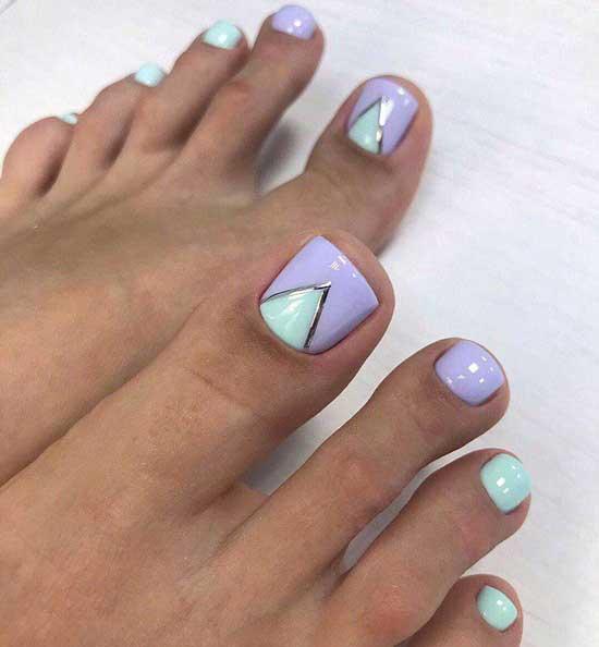 Новинки яркого педикюра 2019-2020, фото красивых дизайнов ногтей