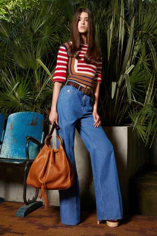 Хиппи образ с джинсами