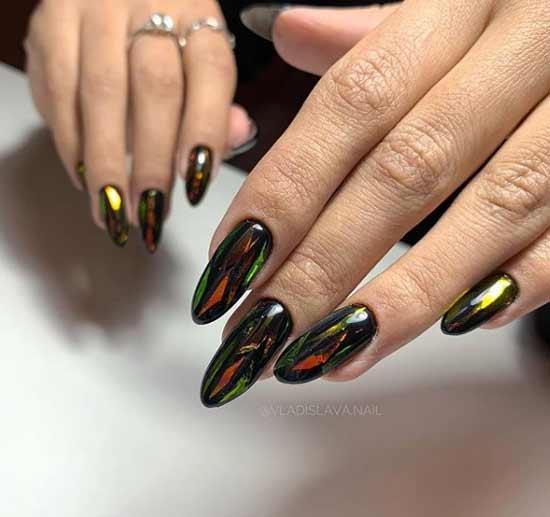 Ногти дизайн битое стекло