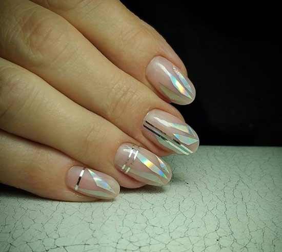 Дизайн ногтей с битым стеклом