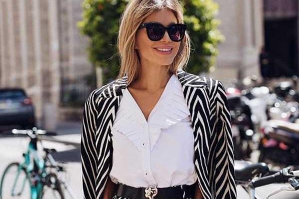 Белла Потемкина - образ в модной белой рубашке
