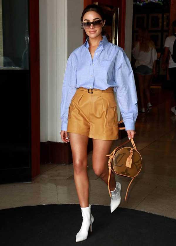 Модный блогер - образ с рубашкой