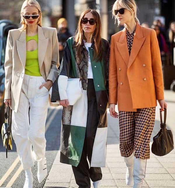 Образы с модным денимом недели моды