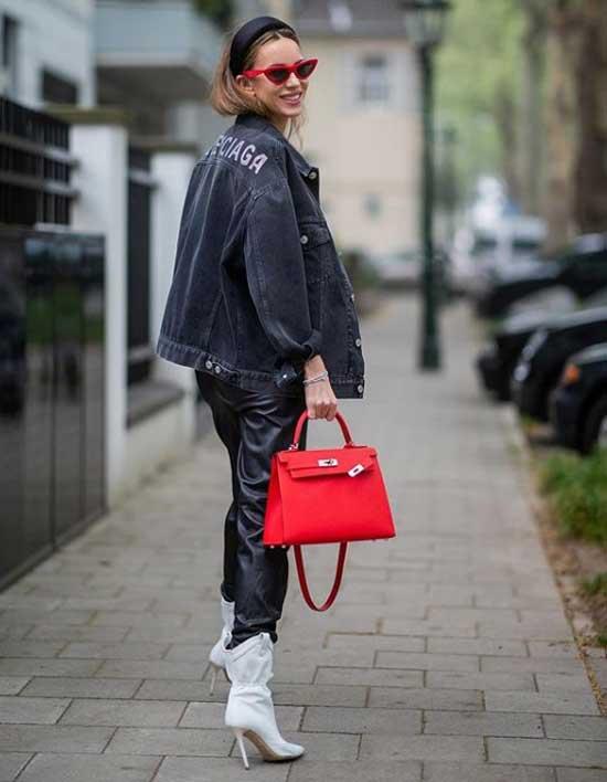 Модный образ с джинсовой курткой