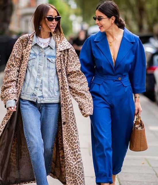 Образ с недели моды с денимом