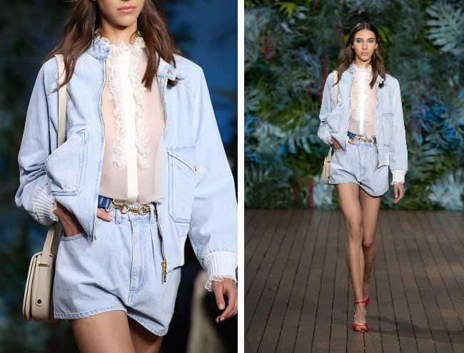 Модный джинсовый комплект