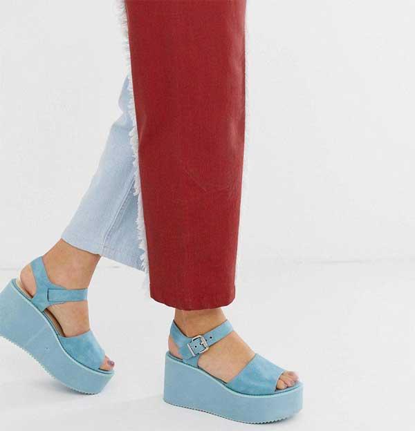 Модные двухцветные джинсы
