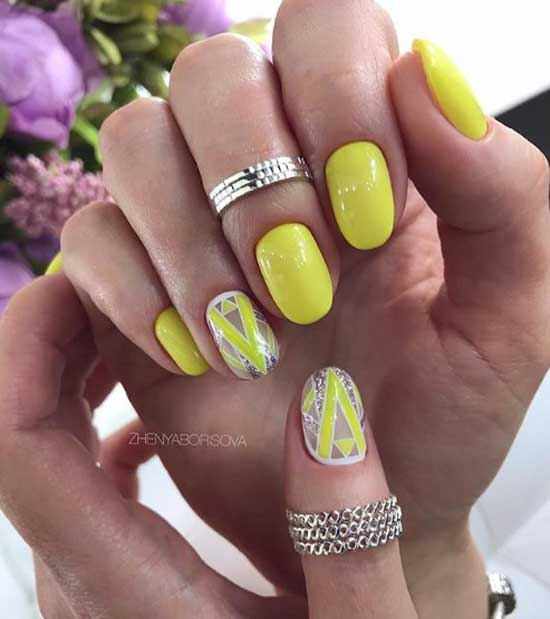 Negative space на ногтях
