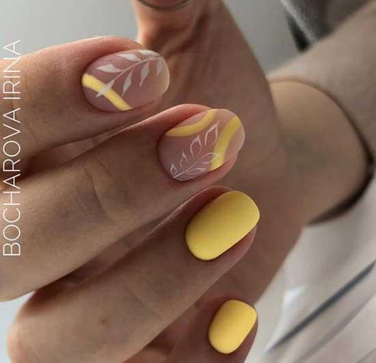 Матовый голый дизайн ногтей