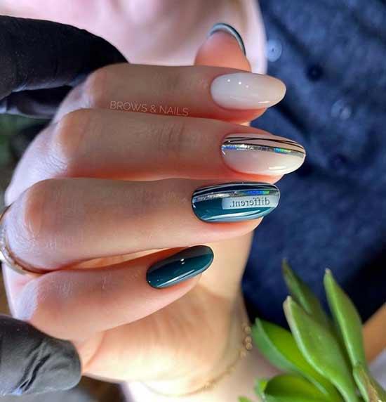 Нарядная классика на ногтях