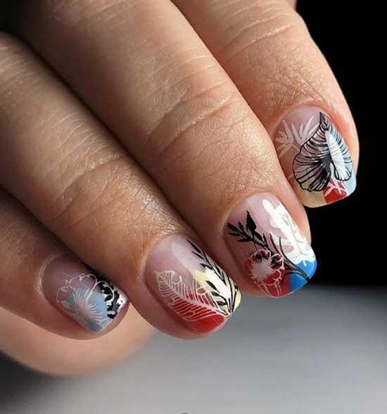 Негатив спейс - дизайн ногтей осень