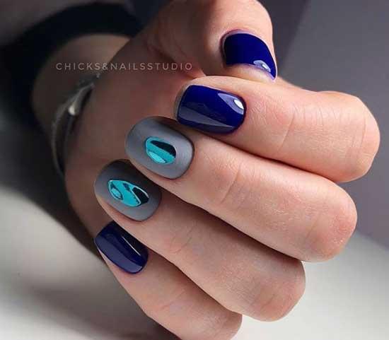Осенний дизайн ногтей слезы драконы
