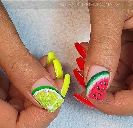 Матовый осенний с фруктами