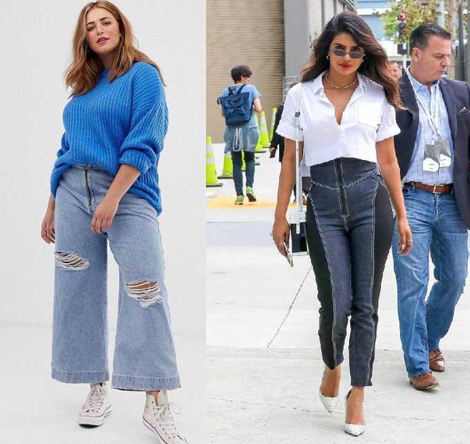Образы с джинсами подбор по фигуре