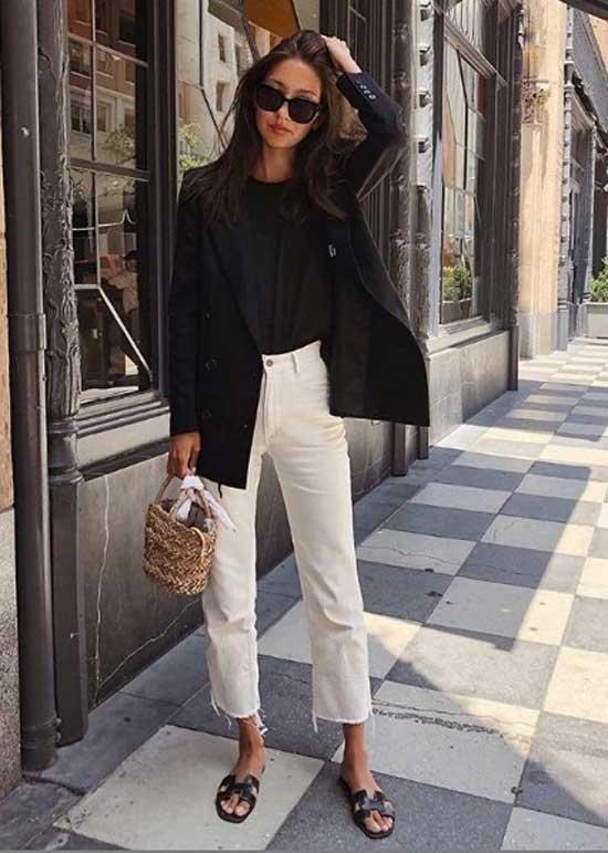 Образ с укороченными джинсами