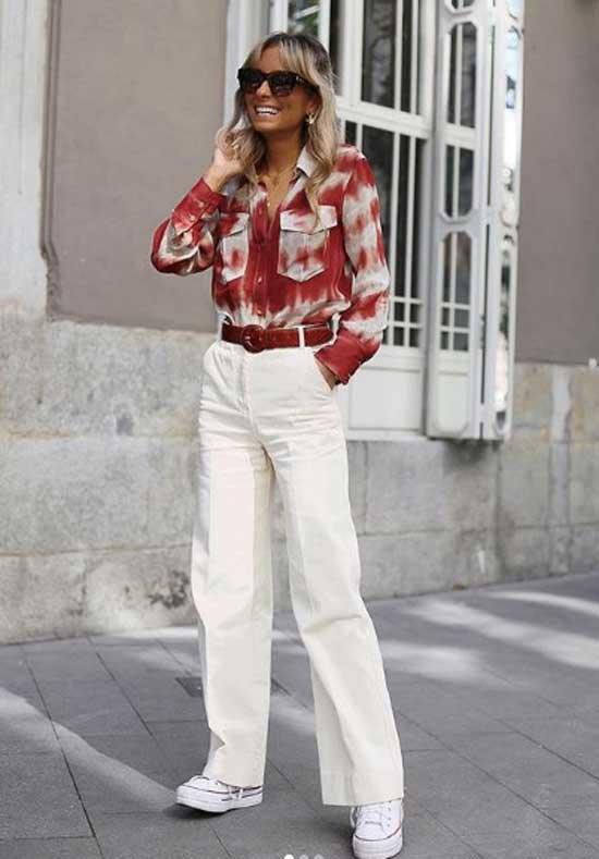 Модный блогер - образ с джинсами