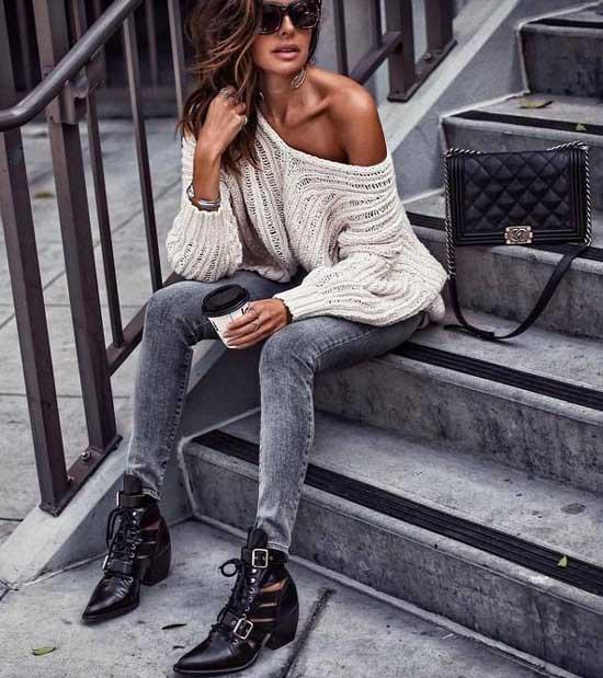 Образы с джинсами-скинни