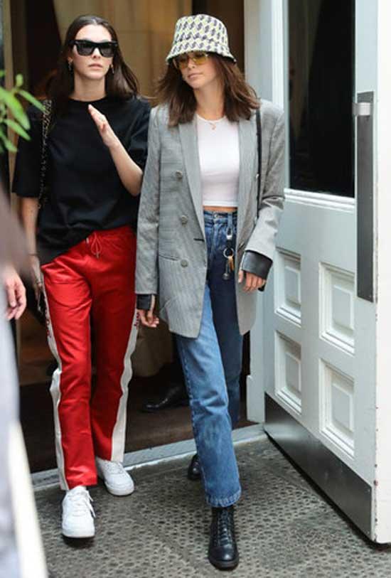Образ с джинсами и панамкой