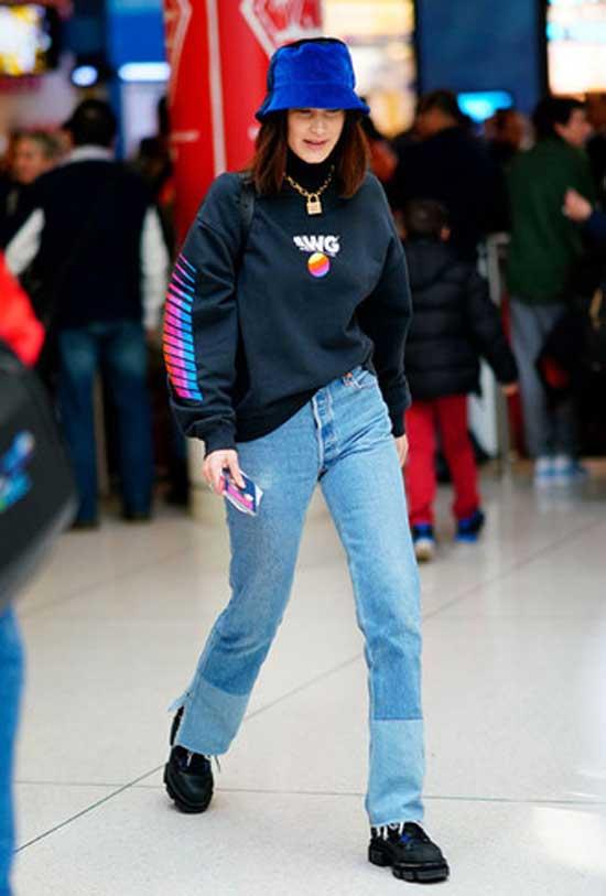 Топ-модель образ с джинсами
