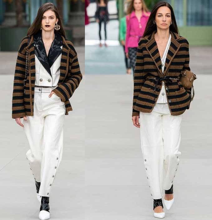 Chanel - образы с белыми джинсами