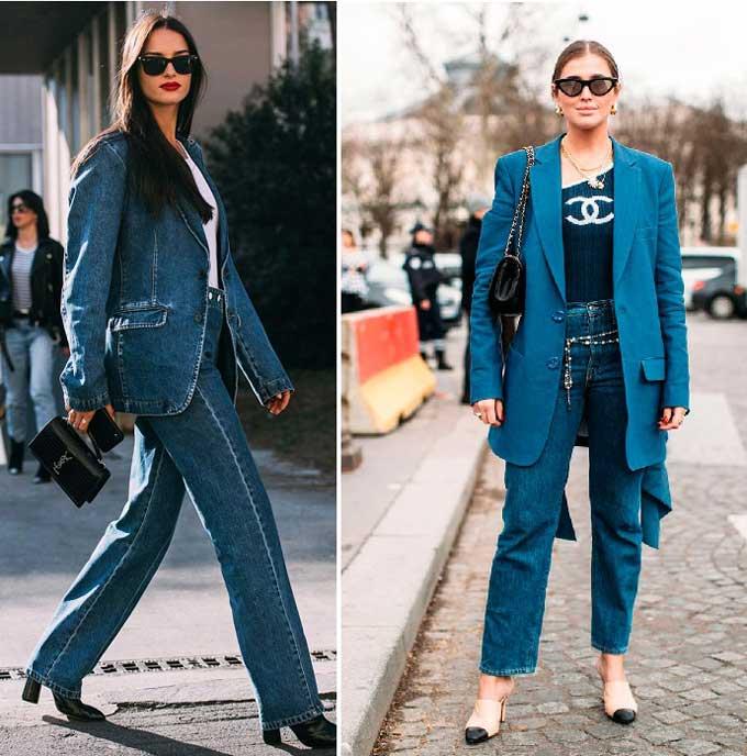Модные образы с участием джинсов