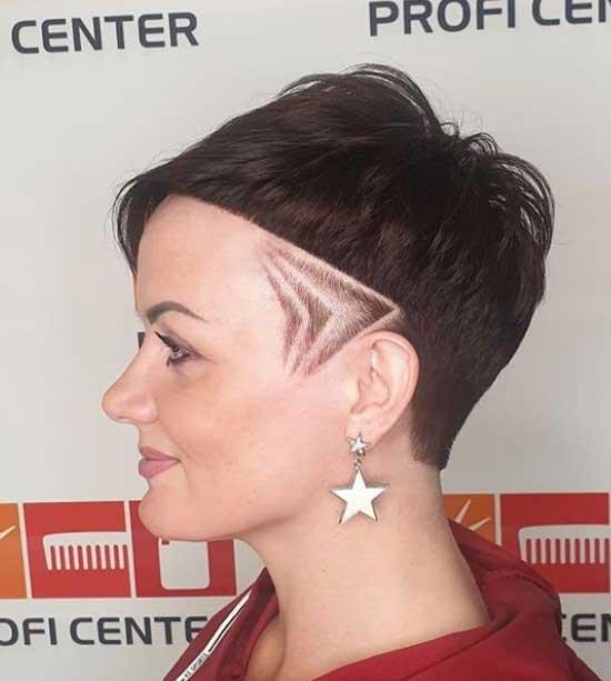 Креативная стрижка с косой челкой