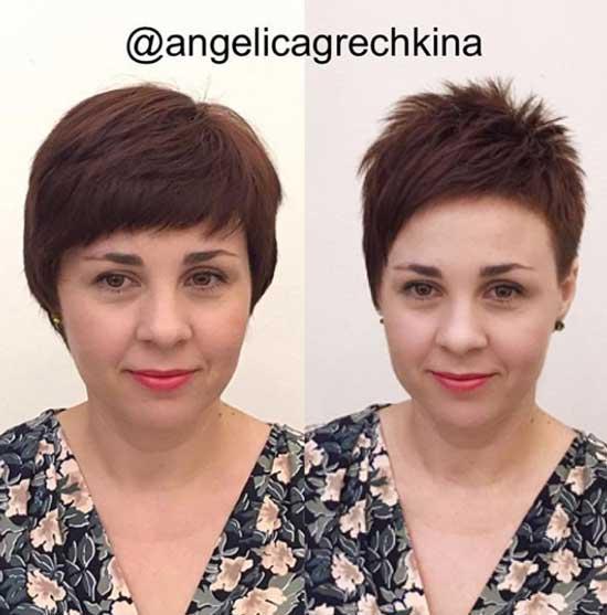 До и после стрижки