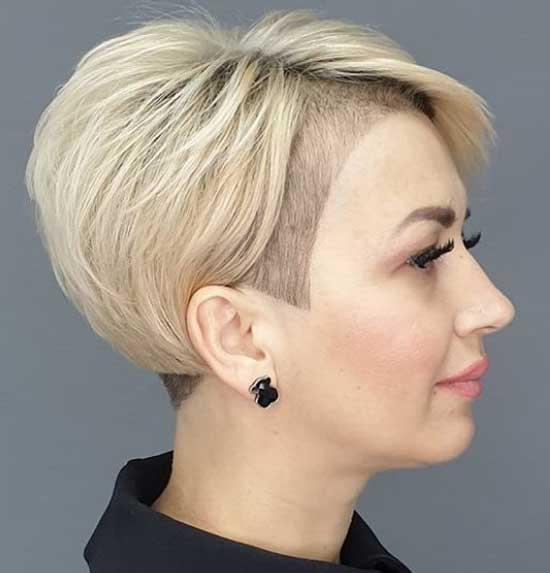 Креативная стрижка волос с интересной челкой