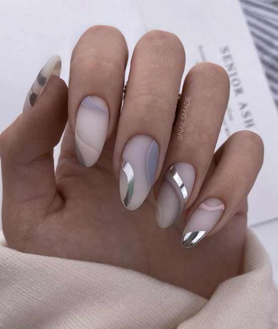 Оригинальная элегантная геометрия ногти