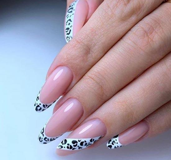 Леопардовый маникюр на длинные ногти