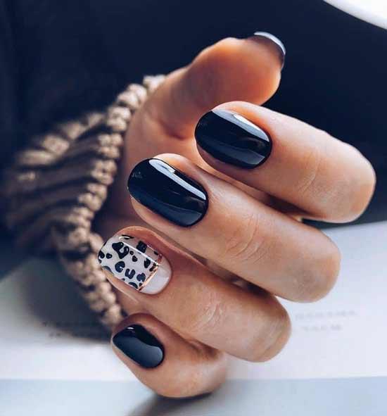 Леопард с черным