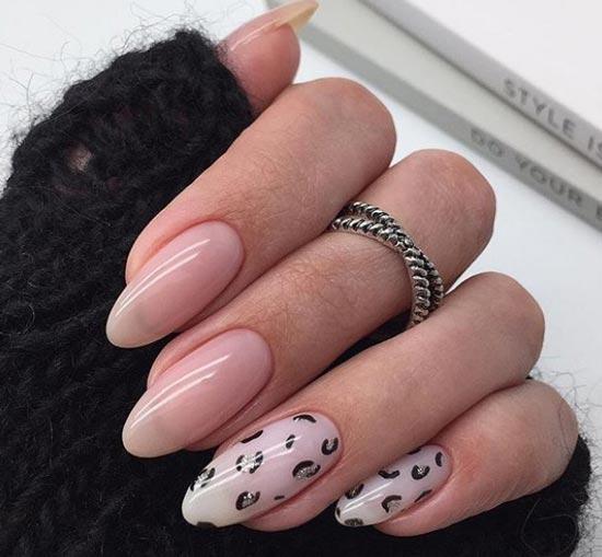 Леопардовый маникюр в стиле минимализм
