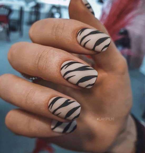 Леопард ногти дизайн
