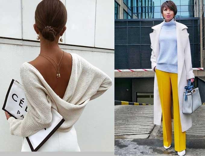 Модные вещи из вязаного трикотажа 2019-2020