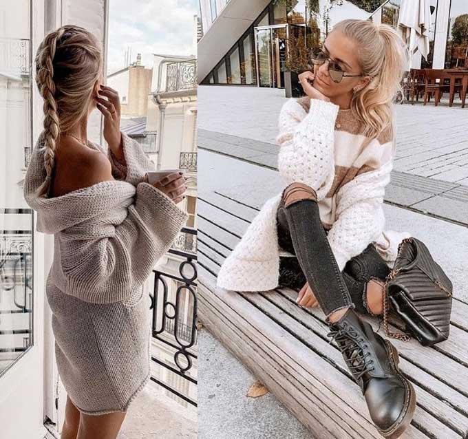 Модные кардиганы образы фото тенденции