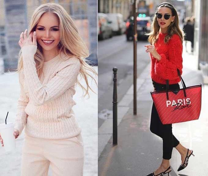Модная вязаная одежда и аксессуары
