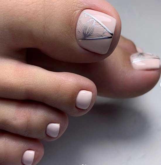 Геометрия на нюдовом фоне покрытия ногтей