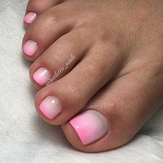 Нюдово-розовый градиент