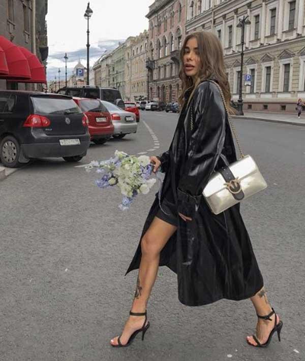 Кожаный тренч - модная вещь осень-зима 2019-2020 года