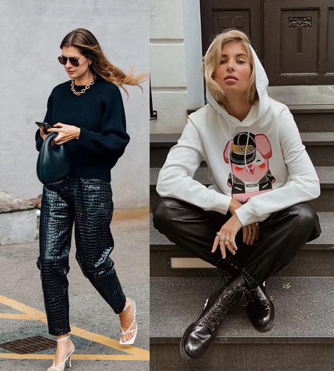 Тренд осень-зима 2019-2020- кожаные вещи