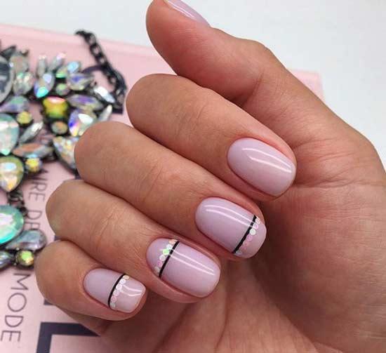 Дизайн ногтей с минималистичным декором