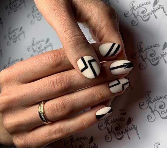 Геометрия на овальной форме ногтей