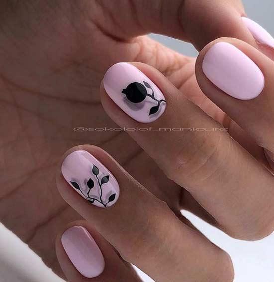 Минималистичный дизайн ногтей овальной формы