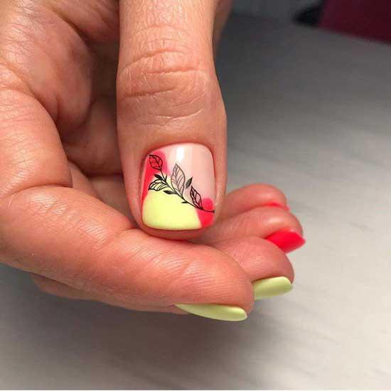 Красивый цвет маникюра короткие ногти