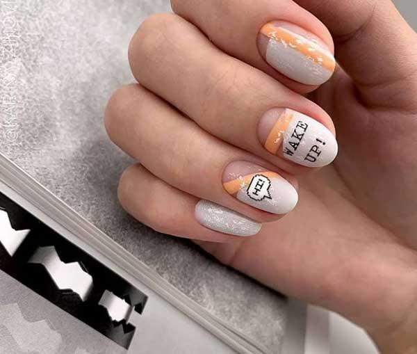 Красивый пастельный маникюр короткие ногти