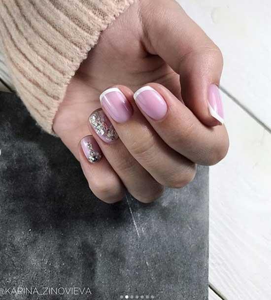Френч на короткие ногти