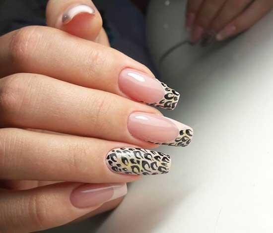 Френч-леопард маникюр 2019-2020